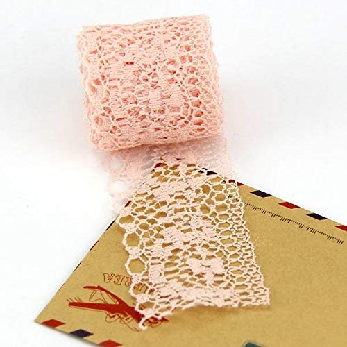 Net Lace Trim Fabric 20yard/lot 35mm 6 Colors Lace Ribbon Width DIY Embroidered for Sewing