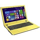 "Acer Aspire E5-573-35J4 - Portátil de 15.6"" (Intel Core i3 4005U, 4 GB de RAM, Disco HDD de 500 GB, Intel HD Graphics 4400, Windows 10 Home), negro y amarillo -Teclado QWERTY Español"