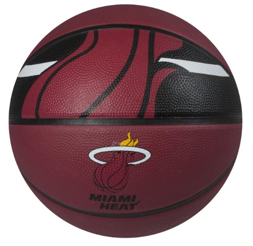 Spalding NBA Miami Heat Courtside Rubber Basketball (Miami Basketball)