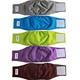 vecomfy Belly Bands for Male Dogs(5 Pack),Premium Washable Reusable...