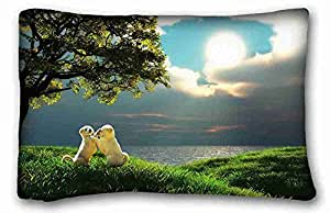 "Soft Pillow Case Cover Animal DIY Pillow Cover Size 20""X30"" suitable for Full-bed"