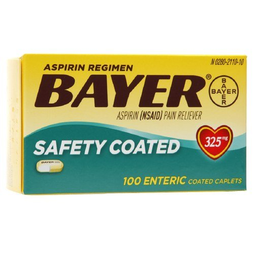 Bayer Aspirin Regimen, Safety Coated Enteric Caplets 100 ea (Regimen Caplets)