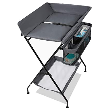 685f7c5b746c QZ® Folding Baby Changing Table For Small Spaces, Toddler Infant Changing  Station Dresser (Color : GRAY): Amazon.co.uk: Kitchen & Home