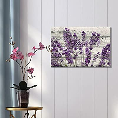 Canvas Wall Art - Romantic Purple Lavender - Poster Giclee Wall Decorations for Living Room High Definition Printed - 24x36 inches
