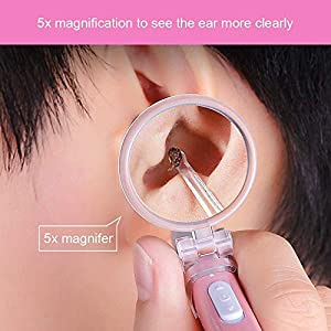 ANLEM Ear Wax Removal Tool Kit Upgrade USB Rechargeable Ear Cleaner & Earpick with LED Light and 5X Magnifying Glass for…