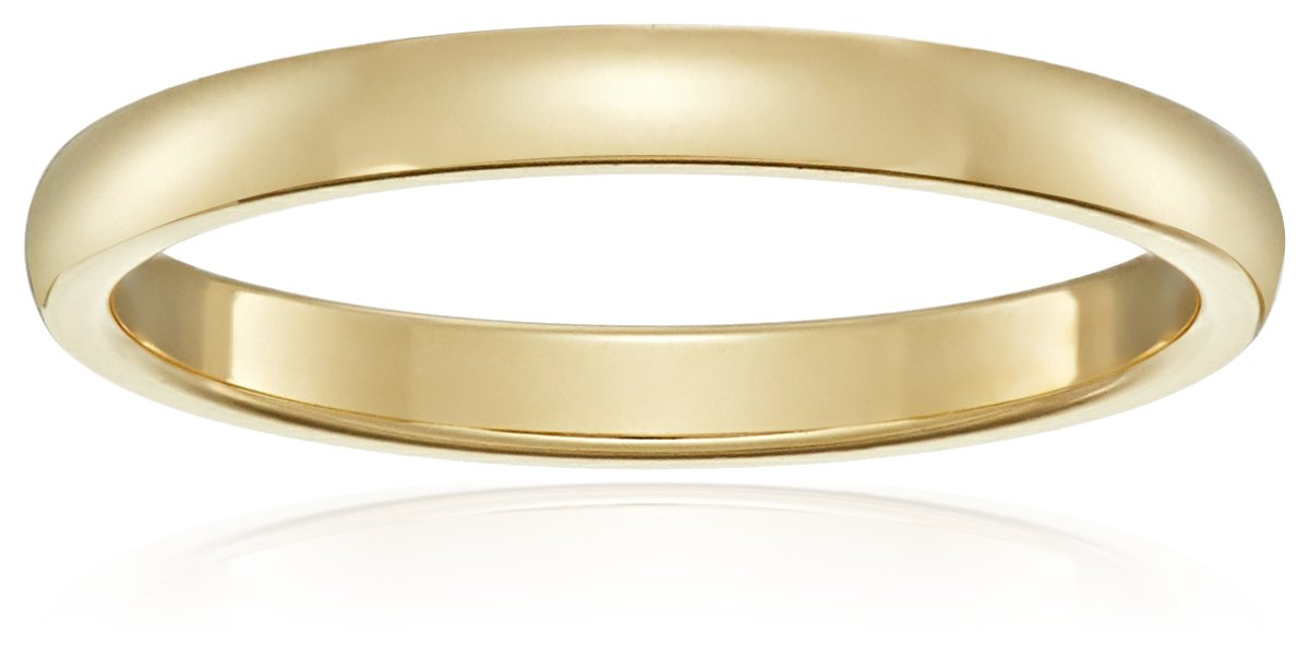 Classic Fit 18K Yellow Gold Band, 2mm, Size 6