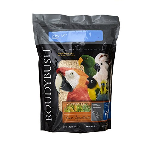 RoudyBush Low Fat Bird Food, Crumbles, 10-Pound