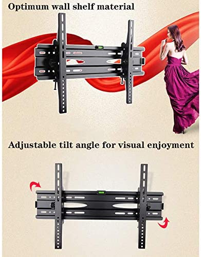 WUJIA Tilt TV Wall Mount Bracket for Most 43-75 in Tvs, Low Profile TV Mountmax VESA 600X400mm, Hold Up To176lbs,26