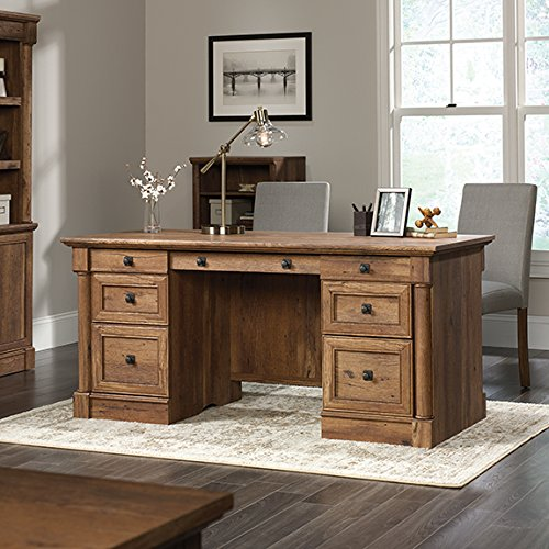 Sauder Palladia Executive Desk in Vintage (Sauder Oak Desk)