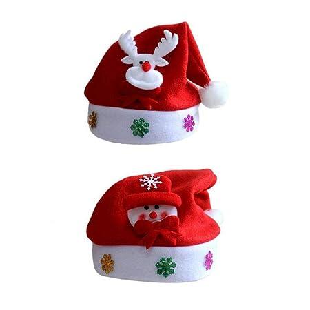 Toyvian 2 Piezas Navidad Sombreros de Santa Claus Navidad muñeco ...