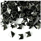 100 x 9mm Spike Square Studs Rivets in Gun Metal / Black for Leather Clothing Bags Jeans Craft - Punk Pyramid Studs for Embellishment
