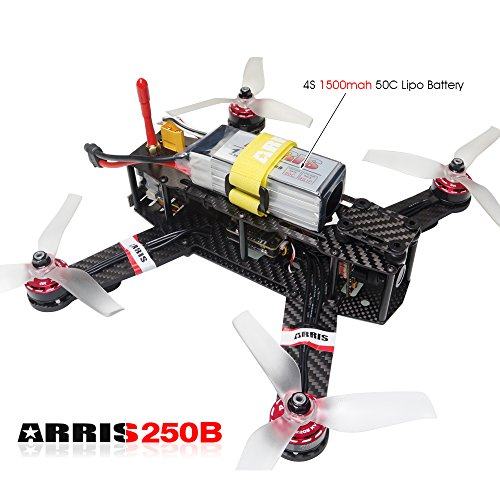 ARRIS-X-Speed-250B-V2-250-FPV-Quadcopter-Racing-Drone-RTF-W-Flycolor-Raptor-390-Tower-4-in-1-30A-ESC-F3-OSD-PDB