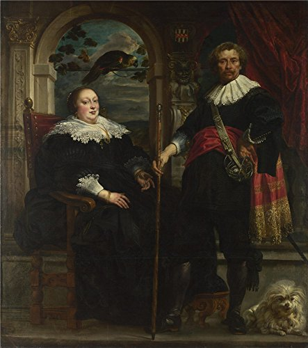 Oil Painting 'Jacob Jordaens Portrait Of Govaert Van Surpele And His Wife', 8 x 9 inch / 20 x 23 cm , on High Definition HD canvas prints is for Gifts And Foyer, Home Office And Study Room (Heritage Artist Tripod Easel)