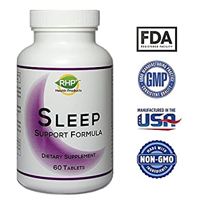 Sleep Aid Sleep Pills - Includes Tart Cherry (melatonin) and Passion Flower - Advanced Sleeping Aid Promotes Relaxation & Stress Relief from Restlessness. Wake Up Refreshed, 2350mg - 60 Tablets