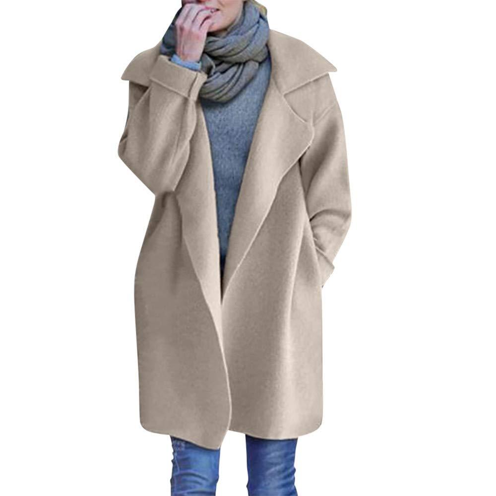 Jinjiums Womens Coat, Warm Slim Jacket Thick Parka Overcoat Winter Outwear Zipper Coat Woolen Jacket OneSize)