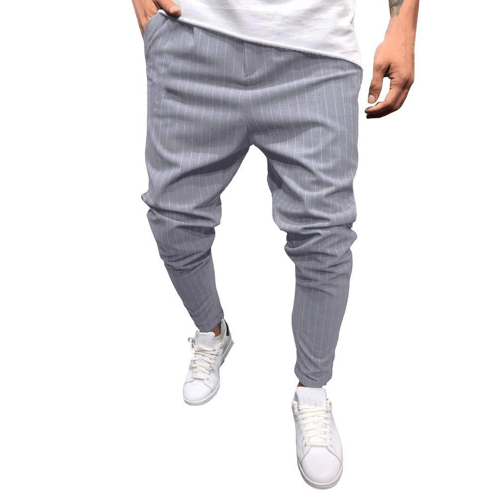 ODJOY-FAN-Moda uomoTempo Libero Tasca Stringa Movimento i Pantaloni Pantalone Classici Harem Tapered Capri Cropped Trousers Jogger Tuta Sottile Sportiva Bottoms Sport Fitness Casuale Libero