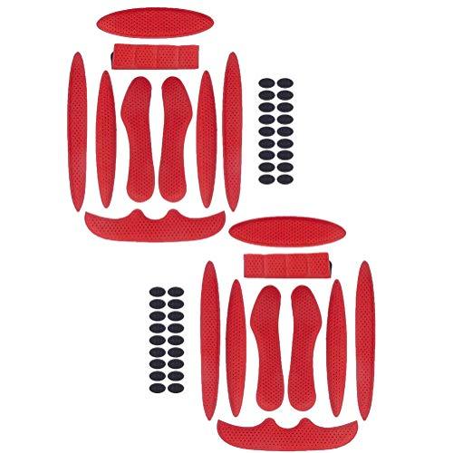 2 sets schuimrubberen pads voor fietshelm, vervangende schuimvulling voor universele botsingsbescherming voor motor- en…