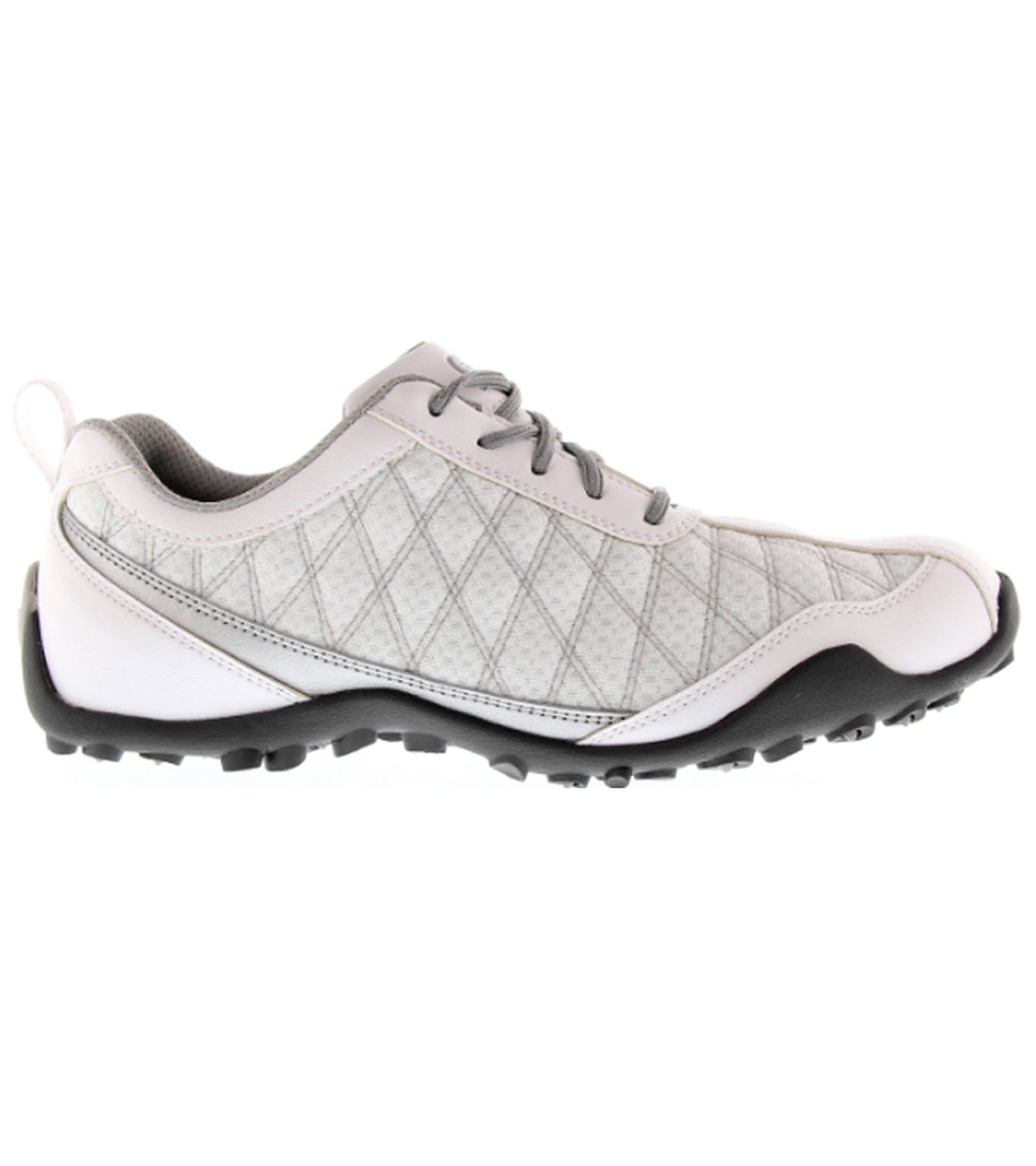 FootJoy Superlites Women's Golf Shoes 98819 White/Silver Ladies New B07DPSY87D 8 (M)