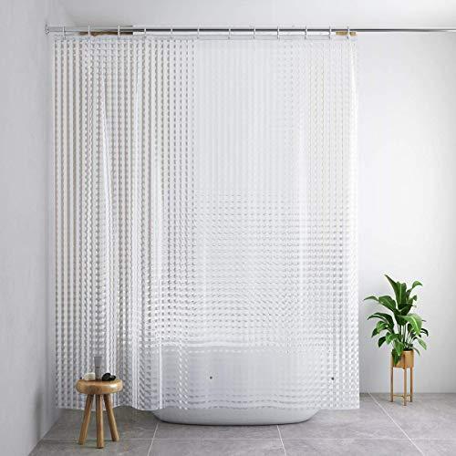 Cobblestone Two Light Pendant - Foruisin EVA Shower Curtain Liner with Metal Hooks, Cobblestone Pendant,72x72-Inch-PVC Free, Waterproof,Non Toxic, Eco-Friendly, Odorless Semi-Transparent 3D Cat's Eye Pattern