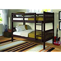 Donco Trading Company Dark Cappuccino Twin Bunk Bed