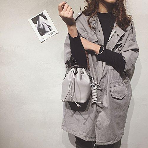 Personalità Cubo Nero Piccola colore Femminile Roscloud Coreano Messenger Grigio Borsa Portatile UwPYxY61Xn