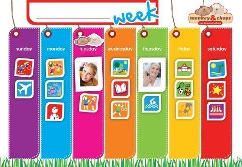 Weekly Schedule Chart - Weekly Activity Planner - Fully Magnetic Behavior Charts for Kids