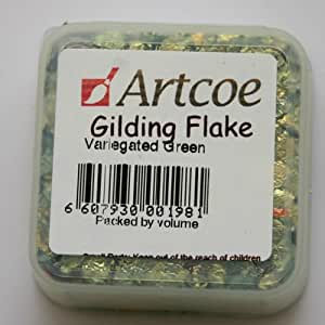 Gilding Flakes Variegated Green