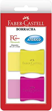 Borracha Neon com Cinta Plástica-Cartela, Faber-Castell, SM/107024F, Multicor