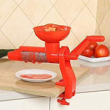 Salsa de tomate exprimidor exprimidor Manual Manual de plástico para el Zumo de tomate accesorios de cocina multifuncional gadgets Herramientas de frutas: ...