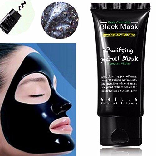 Gesichtsmaske, LuckyFine Black Mask / Mitesser Entferner / Blackhead Killer / Schwarze Maske / Peel Off Maske / Gesichtsmaske Schwarz / Mitesser maske / Blackhead Maske / Blackhead Peel Off Maske 50 ML Akne Peel Off Maske Mitesser Gesichtsmaske