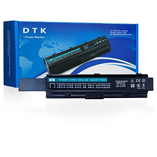 Dtk High Capacity Laptop Battery Replacement for Toshiba Pa3534u-1brs Pa3533u-1brs Pa3535-1bas Equium Series Satellite A200 A205 A210 A215 A300 A305 A350 A355 A500 Notebook ( 10.8v 6600mah 9-cells (A200 Replacement Laptop)