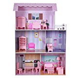 TEAMSON - Wooden Dollhouse 80 x 31 x 113 cm (ColorBaby 85293)