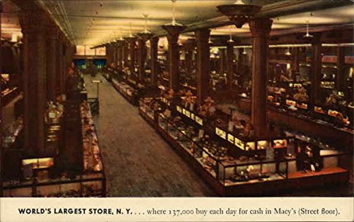 World's Largest Store, N.Y. New York, New York Original Vintage - Largest Macy's