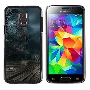 LECELL--Funda protectora / Cubierta / Piel For Samsung Galaxy S5 Mini, SM-G800, NOT S5 REGULAR! -- Wheel Storm Winter Rustic Dark --