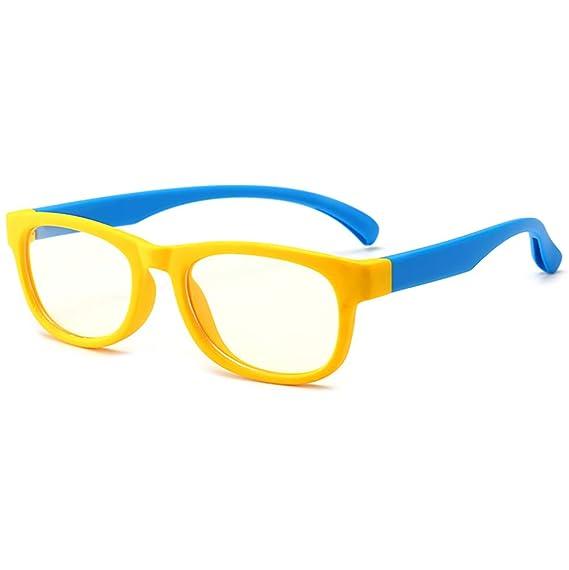 Niños Luz azul Gafas de bloqueo Anti Eyestrain Computadora UV Gafas Lente  no recetada edad 3 5c52d5504f5e