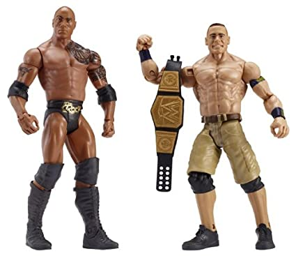 WWE Battle Pack Series #24 The Rock and John Cena Action Figure, 2-Pack