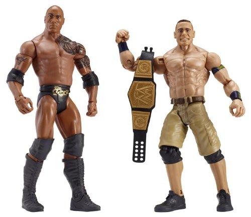 WWE Série 24 Figurines The Rock et John Cena Mattel X9987