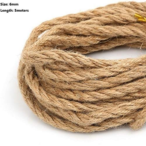 - Twine String Jute Natural/Burlap Rope Hemp Ribbon for DIY Craft Packing Wrap/Rustic/Gift/Wedding/Christmas Party/Decoration Accessories (6 mm - 5 Meter)