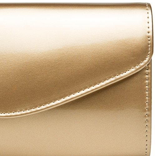 Women Patent made Evening CASPAR Bag for Clutch Gold Leather Elegant Extraordinary of TA407 nq0A0wvY