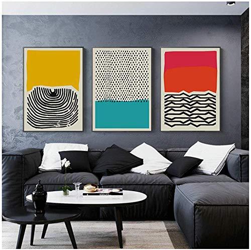 """Surfilter Impresion en lienzo Carteles e impresiones geometricos abstractos multicolores Cuadros artisticos de pared Decoracion del hogar minimalista moderna nordica 15 7"""" x 23 6"""" (40"""