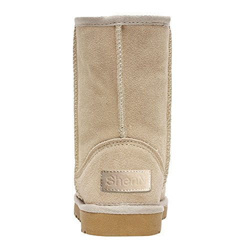 Snow Charming Boots Short Winter Shenn Sand Women's Warm Classic WaZAS