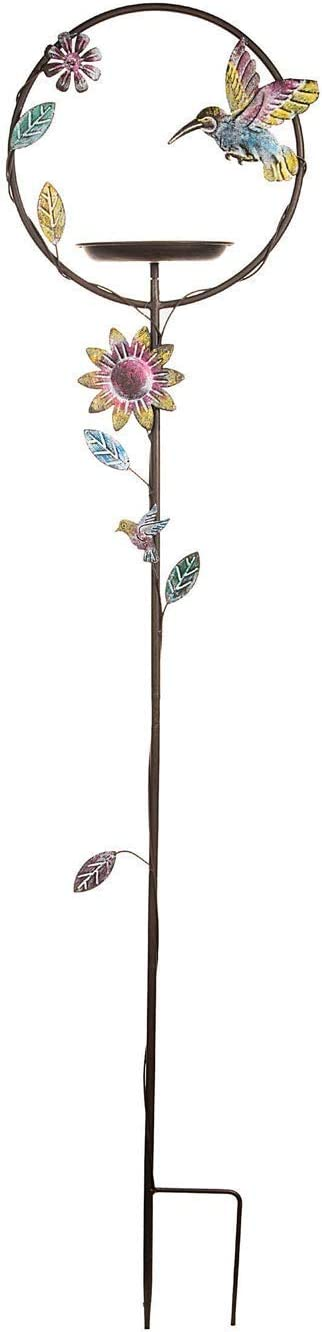 Darice 30017989 Iron Trellis Garden Stake, 54.5-inch High, Multicolor