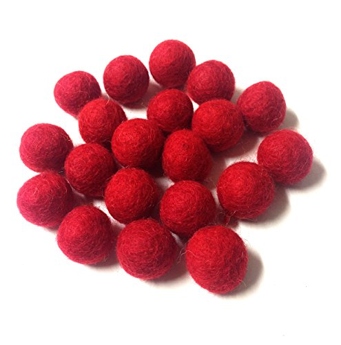 Wool Craft Yarn (Yarn Place Felt Wool Felted 100 Balls 1 Color Pack Size: 10 mm (Red 01))