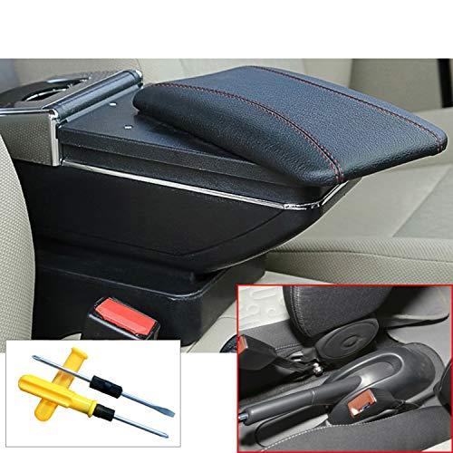 MyGone for Suzuki Celerio Alto 08-16 Car Center Console Armrest Storage Box Accessories,Arm Rest?with Cup Holder,Removable Ashtray,Black