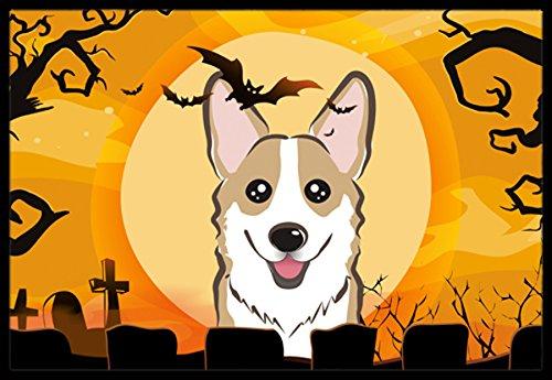 (Caroline's Treasures Halloween Sable Corgi Indoor or Outdoor Mat, 24 by 36