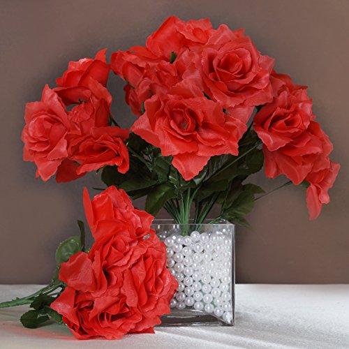 BalsaCircle 84 Silk Open Roses Wedding Flowers Bouquets -...