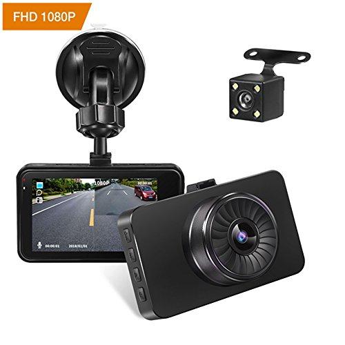 Autokamera Dashcam YIYU-Tc FHD 1080P Mini Auto Video Recorder AutoKamera mit Dual-Lens 170 ° Grad Weitwinkel Nachtsicht, G-Sensor, Bewegungserkennung, Parkplatz Monitor, Loop Recorder, WDR, Zwei Bilder Display Dashcam YIYU-Car-video-2018001