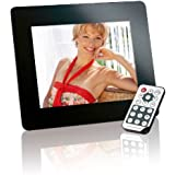 Intenso Mediadirector Digitaler Bilderrahmen (20,3cm (8 Zoll) Display, SD Kartenslot, Video-Function, Fernbedienung) schwarz