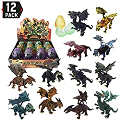 """Large 3D Hell Dragon Figure Puzzles in Hatching Eggs, Assorted in Display Box. Detailed and bright-colored hell dragon figures, each measures approx. 5"""". Each egg holds 8 pieces dragon parts (neck, wings, claws and tail) that are easy to asse..."""
