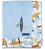 Trend Lab Surf's Up Framed Receiving Blanket, Blue